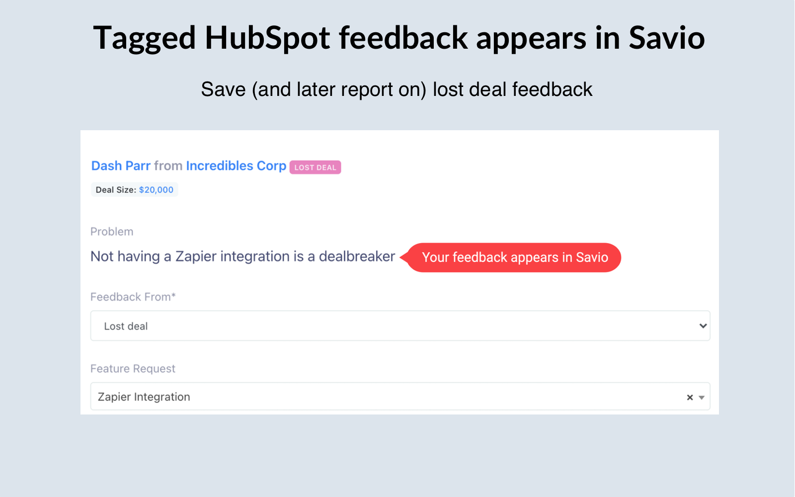 Track Feature requests in HubSpot